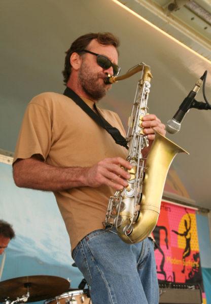 Photo of Jim Schmidt performing jazz